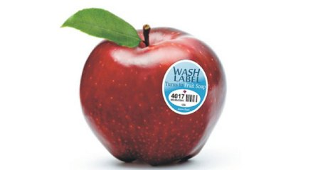 fruit wash label